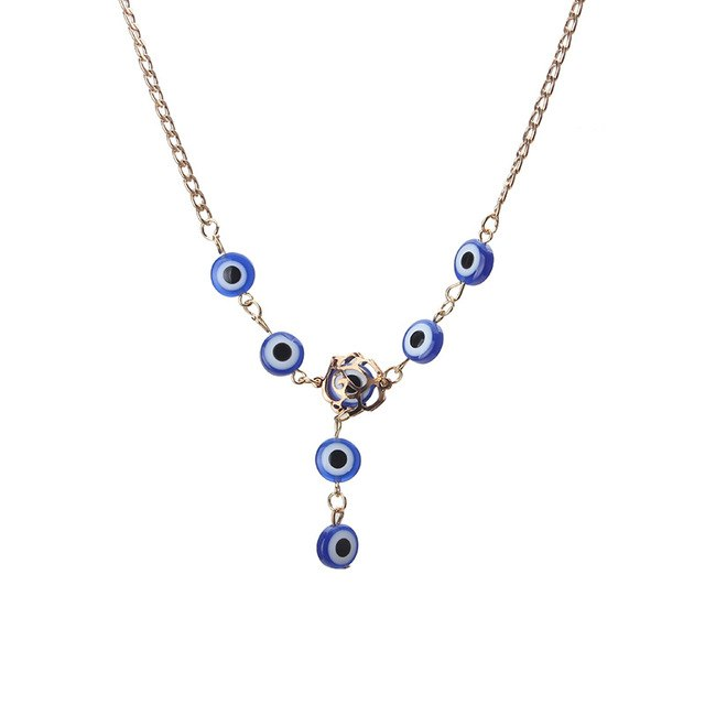 Lucky Turkish Evil Eye Necklace Glass Charm Pendent Blue Fashion Jewelry Protector Men Women Hand made As Party Birthday Gift