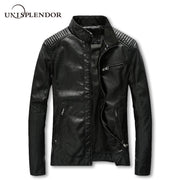 2019 HipHop Bomber Jackets Men's Clothing Male Leather Jacket New Fashion Casual Pilot Overcoat Homme Solid Cool Jacket  YN10156
