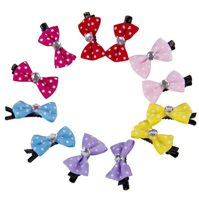10pcs/lot DIY Dog Hair Bows Dog Cat Hairpins Lovely Pet Hair Clips Dog Hair Accessories Grooming Pet Products