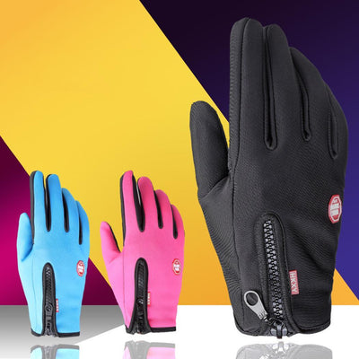 Unisex Solid Windproof Waterproof Warm Touch Winter, Autumn Screen Wrist Full-Finger Gloves
