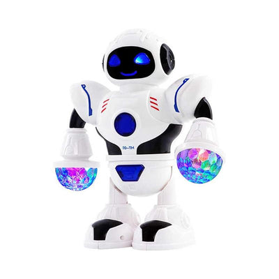Children Interactive Electric Space Dancing Robot Machine with Music Flashing LED Light Kids Funny Walking Toys