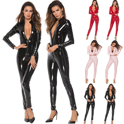 Women Lingerie Plus Size Leather Sexy Bodysuit Siamese Sexy Underwear Sleepwear