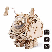 New Arrivals DIY 3D Wooden Chip Puzzle Music Box Toys for Kids DIY Crafts Ornament