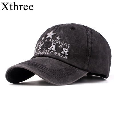Xthree New men's baseball cap cotton spring hat for men streetwear women dad hat embroidery casual cap casquette hip hop cap