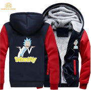 Rick and Morty Schwifty Hot Sale Hoodies Men 2019 Hot Anime Sweatshirt Spring Winter Harajuku Jackets Men Warm Men's Pullovers