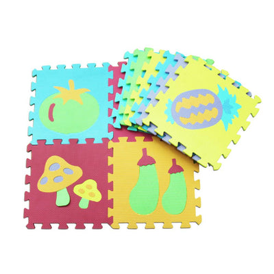 10 PCS New EVA Animal Puzzle Mat Digital Letter Educational Foam Mat Fruit Vegetables Transportation Flower Grass Crawling Mat