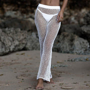 Women Bikini Hollow Knitted Swimsuit Tops+Pants Suits Beach Cover up Swimwear