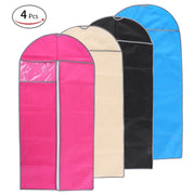 Esonmus 4pcs 60 * 120cm Non-Woven Dustproof Hanging Garment Bags Clothes Suit Organizers Covers with PVC Visible Window for Closet Travel--XL Size