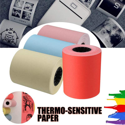 Thermal Printing Paper 57x50mm For Memobird Photo Printer Bill Receipt Paper For Thermosensitive Printer Red/Pink/Yellow/Blue