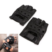 New Men's Leather Gloves Half Finger Fingerless Stage Sports Biker Cycling Driving S/M/L