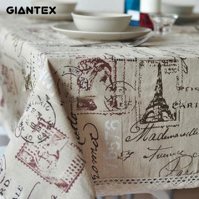 GIANTEX Tower Decorative Table Cloth Tablecloth Rectangular Dining Table Cover Table Cloths Obrus Tafelkleed mantel mesa nappe