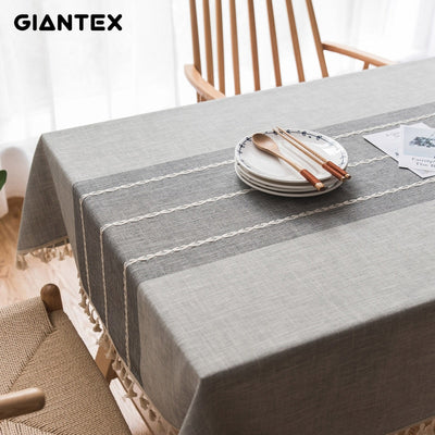 Decorative Table Cloth Linen Lace Tablecloth Rectangular Tablecloths Dining Table Cover Obrus Tafelkleed mantel mesa nappe U1755