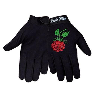 Xelement XG1484.30 'Lady Rider' Women's Black Textile Fabric Gloves