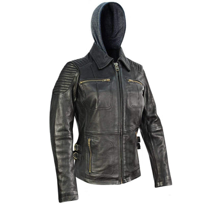 Xelement BXU1843 Bully Womens Black Leather Jacket