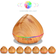 Honey Peach Shape Aroma Essential Oil Diffuser Grain LED Light Office Bedroom Home Water Spray Humidifier