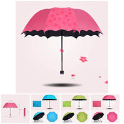 Folding Umbrella Bloom Flower in Rain Water Windproof Sunshade for Outdoor Sports Anti-UV Parasol 2018ing