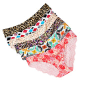 6PC Sexy Women Lace Flowers Low Waist Underwear Panties G-string Lingerie Thongs