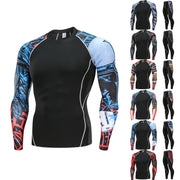 Fashion new arrival Man Workout Leggings Fitness Sports Gym Running Yoga Athletic Pants+Shirt Suit Jan21