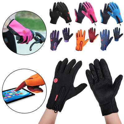 Outdoor Sports Touch Screen Gloves Guantes 2019 Winter Motorcycle Gloves Windstopper Full Finger Ski Gloves Warm Riding Glove