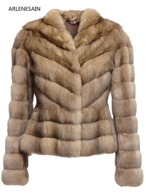 Arlenesain custom 2018 new Russian Sable Fur Jacket Fit in women jacket