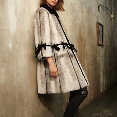 Natural Mink Fur Long Winter Woman Coats 2018 Genuine Fur Coats Women Real Mink Fur Coat Plus Size Cross MINK Fedex SHIPPING