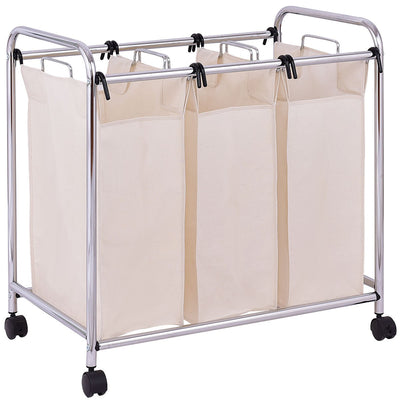 3-Bag Laundry Cart  Bathroom Hamper