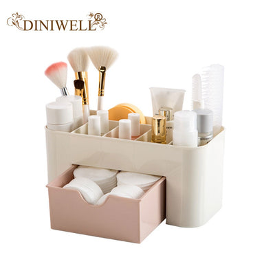 DINIWELL Cosmetic Storage Box Multifunction Plastic Desktop Storage Boxes With Drawer Organizer For Makeup Stationery