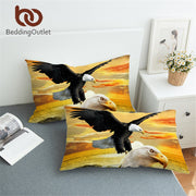 BeddingOutlet Eagles Pillowcase 3D Sea Printed Pillow Cover Microfiber Photography Scenic Pillow Case 50x75cm for Adults Bedding