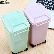 Small Mini Portable Cute Rubbish Bin Garbage Can Office Accessories Creative Multi-functional New Trash Waste Cleaning Storage