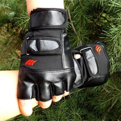 Men Exercise Training Sport Fitness Sports Gym Gloves Men Half Finger PU Leather Mens Gloves for Tactical #YL5