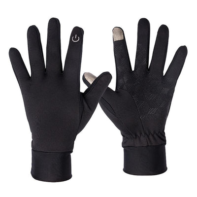 Men Unisex Winter Magic Screen Touch Full Finger Gloves Anti Skid Rubber Windproof Cycling Washable Mittens Outdoor Motorcycle
