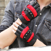Mens Outdoor Soft Sheep Leather Driving Motorcycle Biker Fingerless PU Gloves New T8