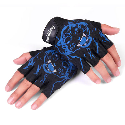Cycling Gloves New Men And Women Lovers Half Finger Gloves Short Finger Gloves Breathable Thin Anti-Slip Sunscreen Gloves 3 Colo