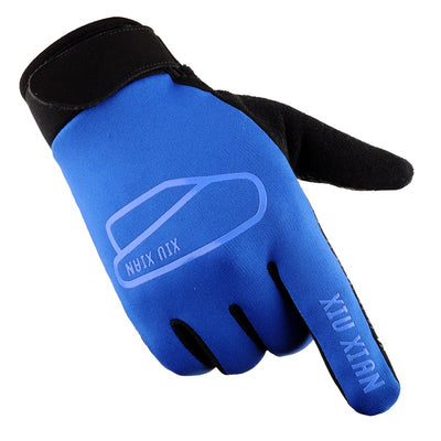 Men's Cycling Gloves Women Full Finger Bike Bicycle MTB Gloves Touch Screen Gel Padded Lycra Mittens