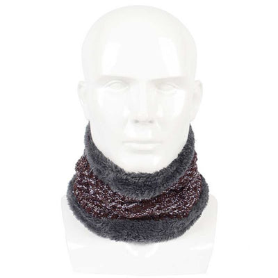 Winter Circle Scarf Unisex scarf Rings Elastic Kitted Fleece Inside Men Women scarves Soft Thick Warm Scarves Ring