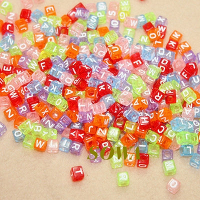 Many kinds 6mm 100Pcs Letter Beads Alphabet Acrylic Beads For Jewelry Making  Women Children DIY Bracelet Necklace Findings