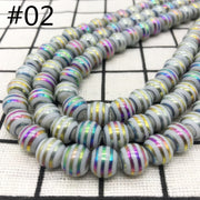 New 6 8 10mm Multicolour 20pcs Glass Round Loose plating Beads DIY Bracelet Earrings Charms Necklace Beads For Jewelry Making#02