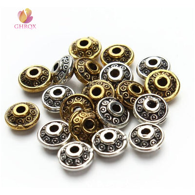 6mm Metal UFO Shape Spacer Loose Beads for Bracelet Necklace Jewelry Making DIY
