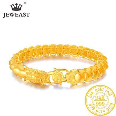 24K Pure Gold Bracelet Real 999 Solid Gold Bangle Refreshing Smart Flowers Trendy Classic Party Fine Jewelry Hot Sell New 2018