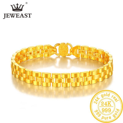24K Pure Gold Bracelet Real 999 Solid Gold Bangle Refreshing Smart Flowers Trendy Classic Party Fine Jewelry Hot Sell New 2019