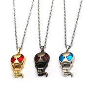 New The Avengers Necklace Venom Deadly Guardian Spiderman Black Spider 3 Colors Mask Link Chain Pendants Necklaces Jewelry Kolye
