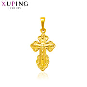 Xuping Elegant Simple Jesus Seris Pure Gold Color Plated Necklace Pendant for Women Man Christmas Jewelry Gift S73,3-33340