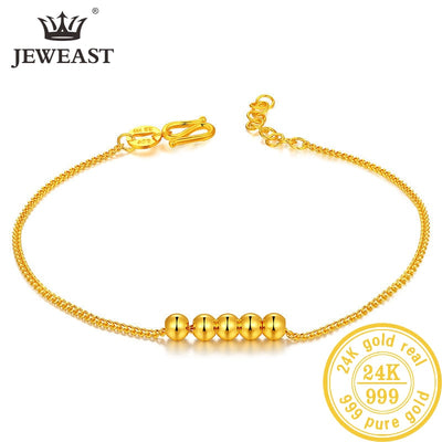 24K Pure Gold Bracelet Real 999 Solid Gold Bangle Upscale Beautiful Butterfly Romantic Trendy Classic Jewelry Hot Sell New 2019