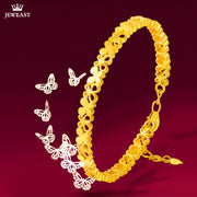 XXX 24K Pure Gold Bracelet Real 999 Solid Gold Bangle Simple Beautiful Butterfly Trendy Classic Party Fine Jewelry Hot Sell New