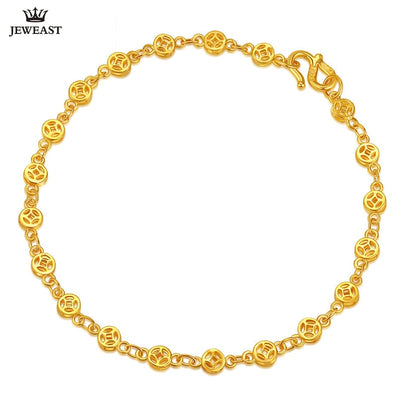 24K Pure Gold Bracelet Real 999 Solid Gold Bangle Copper Money Smart Elegant Trendy Classic Party Fine Jewelry Hot Sell New 2018