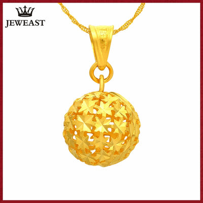 24K Pure Gold Pendant Real AU 999 Solid Gold Charm Nice Hollow Ball Upscale Trendy Classic Party Fine Jewelry Hot Sell New 2018