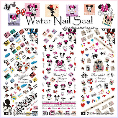 3SHEETS/LOT CARTOON MINI MOUSE DESIGN DIY NAIL ART DECALS TEMPORARY TATTOOS STICKERS WATER DECAL DIY NAIL ART MANICURE SUPPLIE