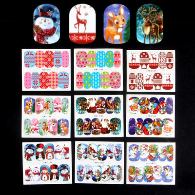 YZWLE 48 Sheets DIY Christmas Design Fashion Water Transfer Sticker Nail Art Decals Manicure Styling Tools