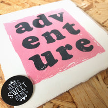 Load image into Gallery viewer, Adventure Original Lino Print PINK