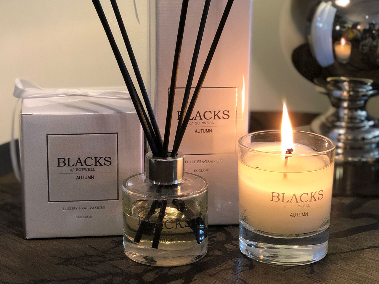 Blacks Home fragrance candle and diffuser